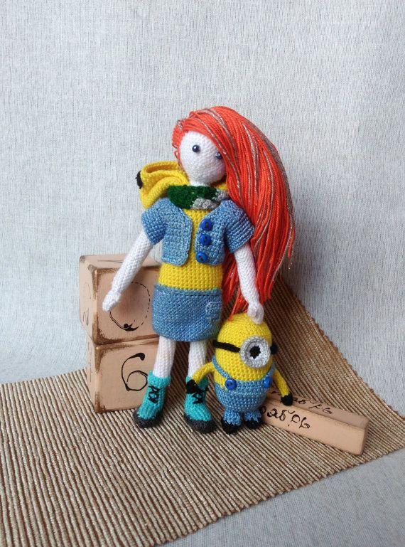 Minion doll despicable me crochet minion knit от KnitCutieGifts