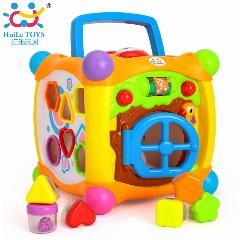 [ 19% OFF ] Huile Toys 936 Kids Activity Alphabet Cube Baby Play Toy 13 Stackable Blocks Learning Baby Infant Toddler Music Game Toys Gifts