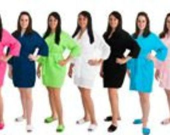 PERSONALIZED Waffle Weave Spa or Bath Robe Available in 9 COLORS and Ready for Immediate Shipment; Wedding and Rush Orders Welcome