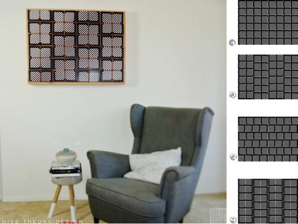 Geometric Wall Art in Westpark, Irvine ~ Apartment Therapy Classifieds