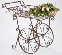 Wrought iron garden cart