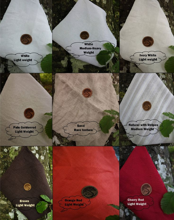 Linen Colors, Samples by LinenOldWays on Etsy