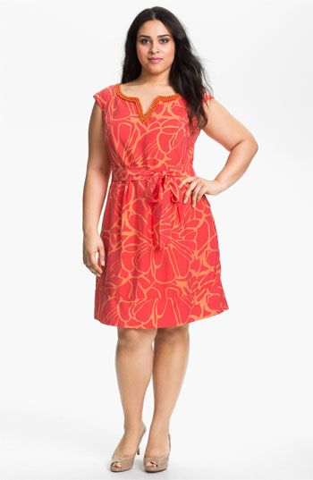 Adrianna Papell Print Fit & Flare Dress (Plus) available at #Nordstrom