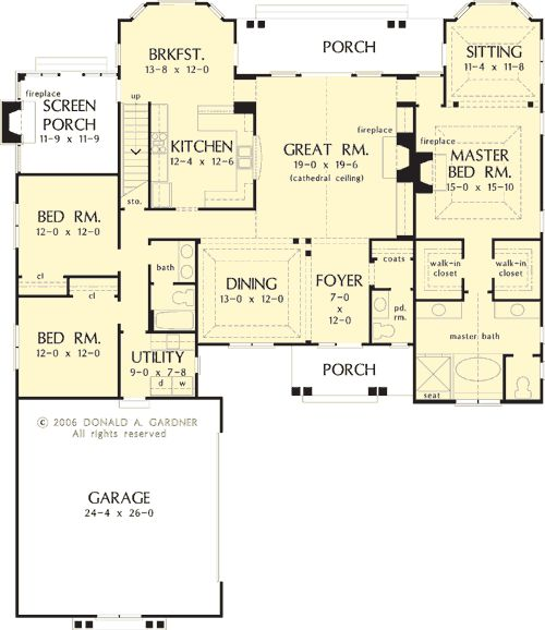The springhill house plans first floor plan house plans for Springhill designs
