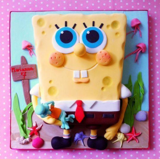 Губка Боб торт