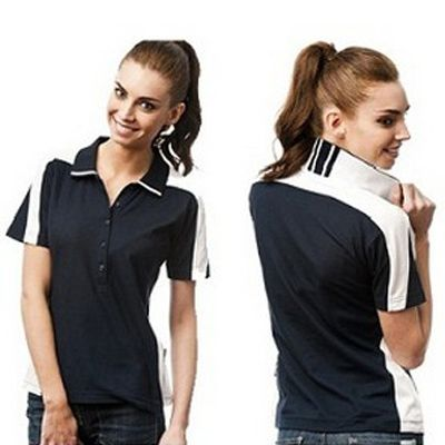 Promo Designed Pique Knit Ladies Polo Shirt Min 25 - The Soft Pique Knit Material is Shrink Resistant and Easy To Care for, with Cotton Rich Breathable Fabric Gives Extra Comfort with a Natural Feeling. #PoloShirts  #PromotionalProducts  #PromotionalPoloShirt  #CooldryPoloShirts #LadiesPoloShirt