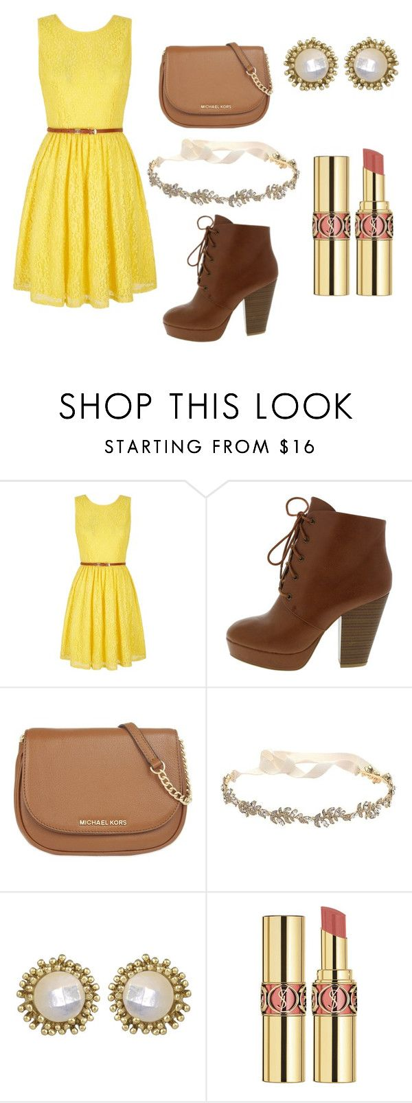 """""""Summer style """" by hersheysodapop ❤ liked on Polyvore featuring Yumi, MICHAEL Michael Kors, Marchesa, Kendra Scott and Yves Saint Laurent"""