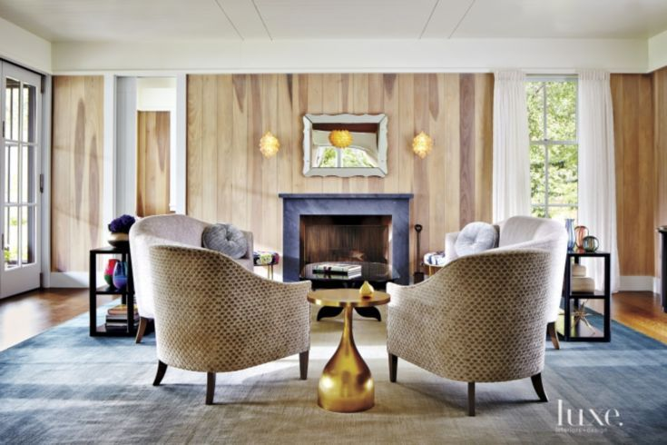 Eclectic Neutral Living Room With Tub Chairs Living