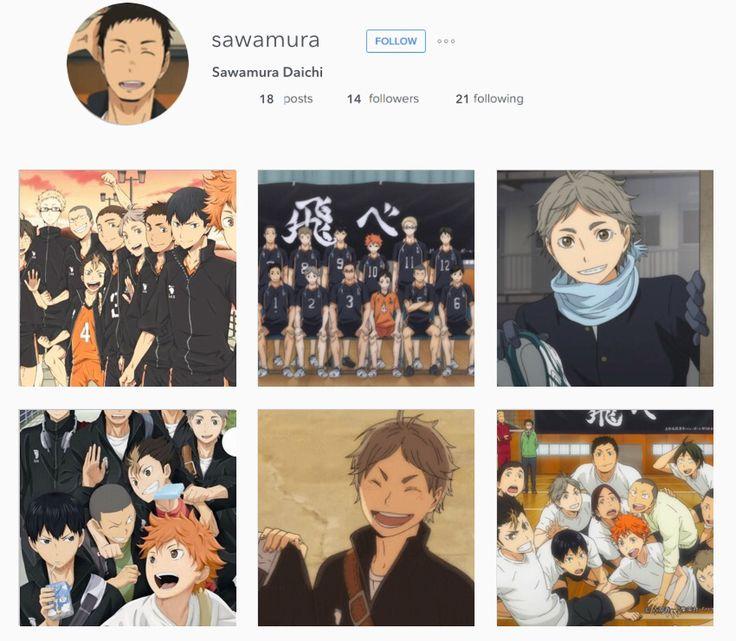 Haikyuu characters on Instagram haikyuu t