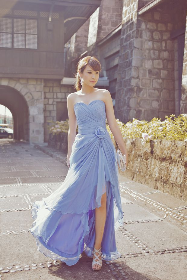 Periwinkle real wedding google search wedding ideas for Periwinkle dress for wedding