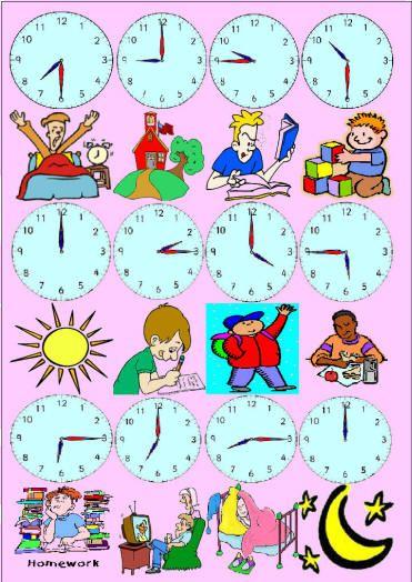 Rutina -las horas