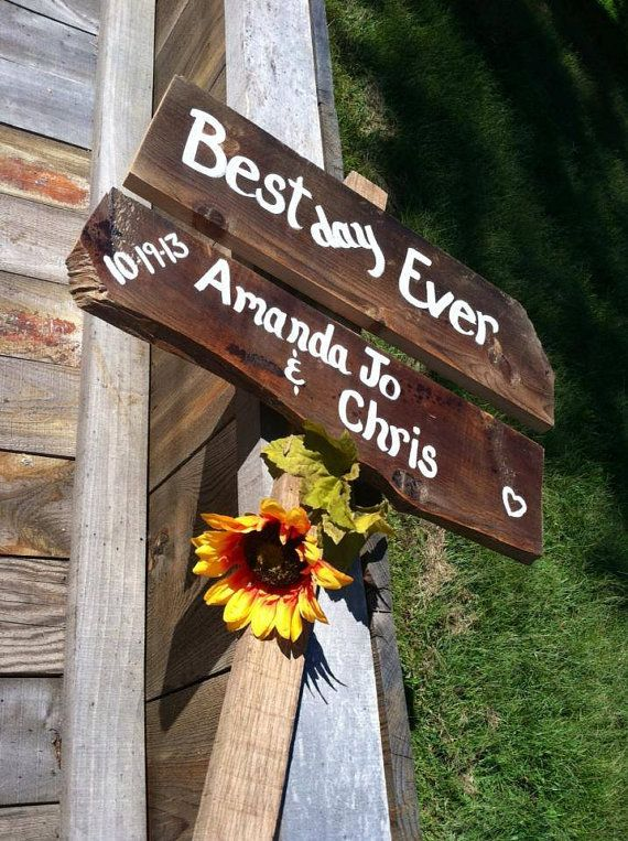 Best day ever rustic wedding sign custom with by SawmillCreations, $29.00