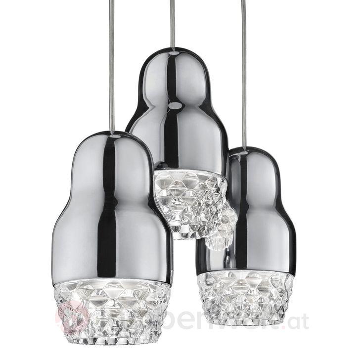 Popular Matrjoschka P ppchen verwandelt in eine traumhafte Leuchte aus Aluminium und Glas Vom italienischen