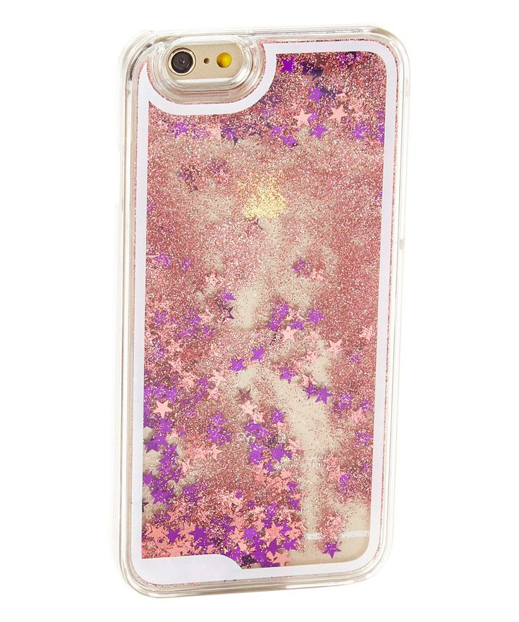 Pinkalicious Floating Stars & Glitter Liquid Case for