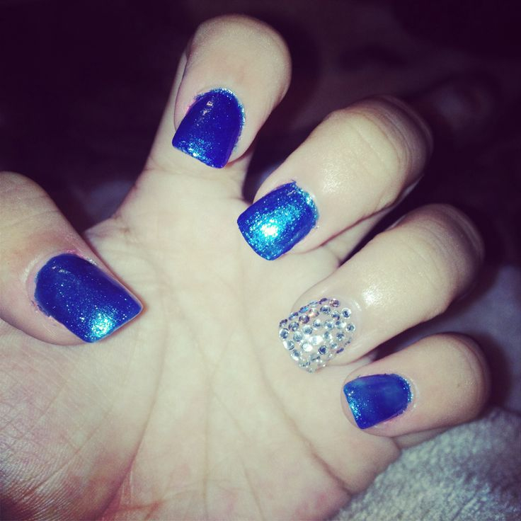 Blue Nail Designs For Prom: Royal Blue Nails
