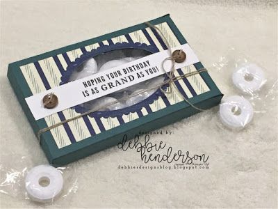 Debbie's Designs: True Gentlemen Suite of Products Used the  Lots To Love Box Framelits Die paired with the Layering Ovals Dies to create this beauty: