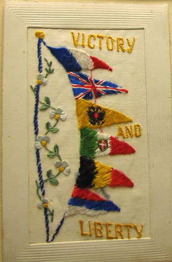 embroidered postcards ww1 - Google Search