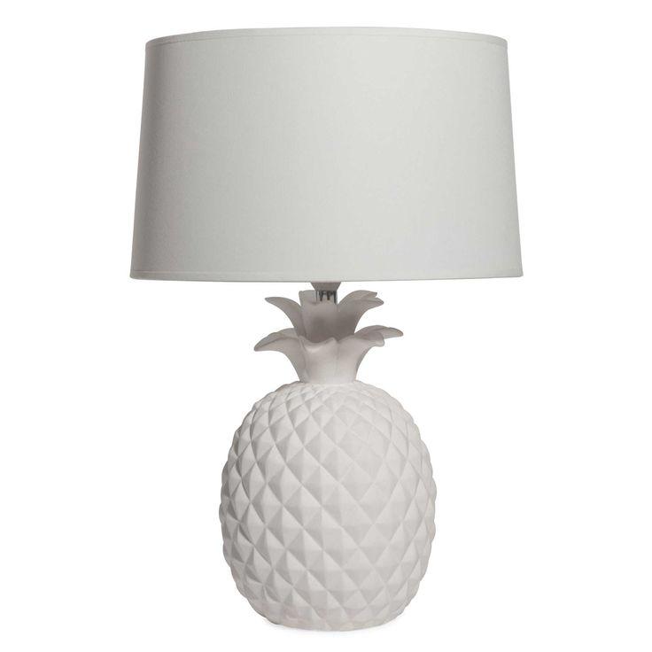 Ananas-Lampe aus weißer Keramik, VICTORIA