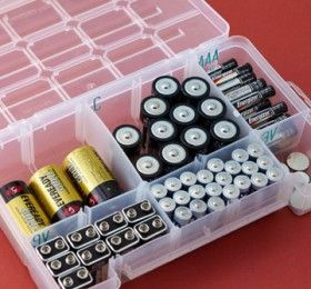 Clear Tackle Box for Battery Storage & Organization