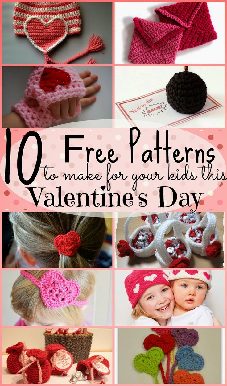 10 Free Knit and Crochet Patterns to make for Your Kids This Valentines ...