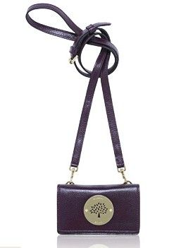 Mulberry Daria Mini Message For Iphone Grape Soft Spongy Leather,mulberry priser,mulberry bayswater taske,billig