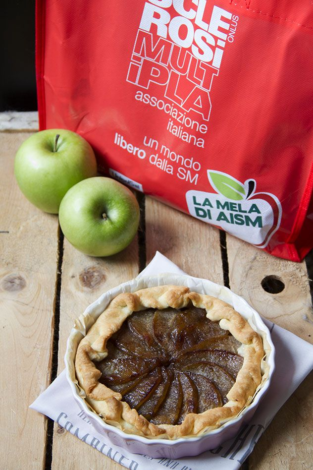 Tatin di mele caramellate al Porto con le mele di Aism