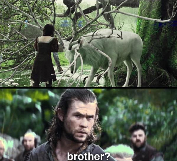 Snow White and the Huntsman. Chris Hemsworth. Thorki. Thor/Loki