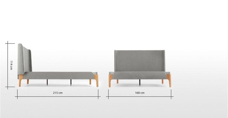 Roscoe Polsterbett (140 x 200 cm), Grau ► Neues Design für dein Zuhause.