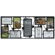 walmart mainstays 8 opening metal collage frame with family expression
