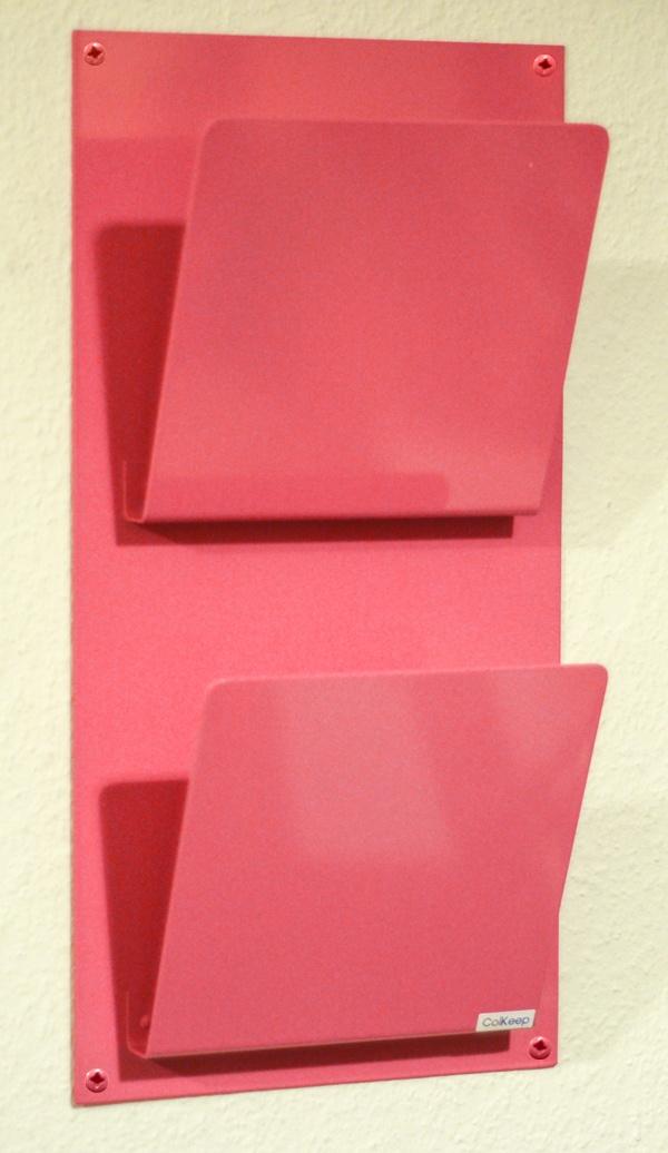 ColKeep : ColKeep Magasinholder x2 Pink - Flot dobbeltbladet avisholder, her i lyserød.