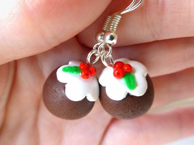 Christmas Pudding Earring's £7.99