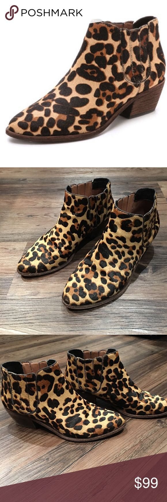 Joie Calf Hair Leopard Booties Joie Calf Hair Leopard Booties Joie Shoes Ankle Boots & Booties