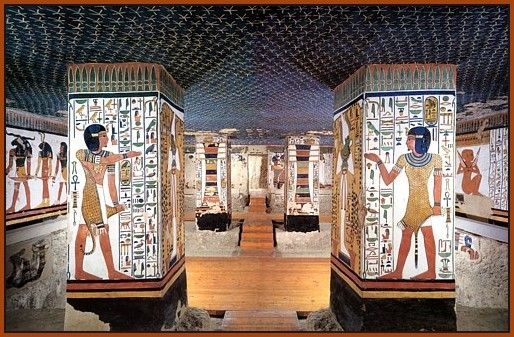 Tomb of Nefertari. The most beautiful tomb in the Valley of Queens. She was the wife of Ramesses II