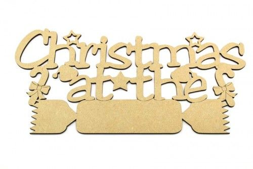 """3mm mdf blank plaque """"Christmas at the"""" http://www.lornajayne.co.uk/"""