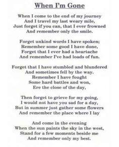 For me, for those I miss every single day!!
