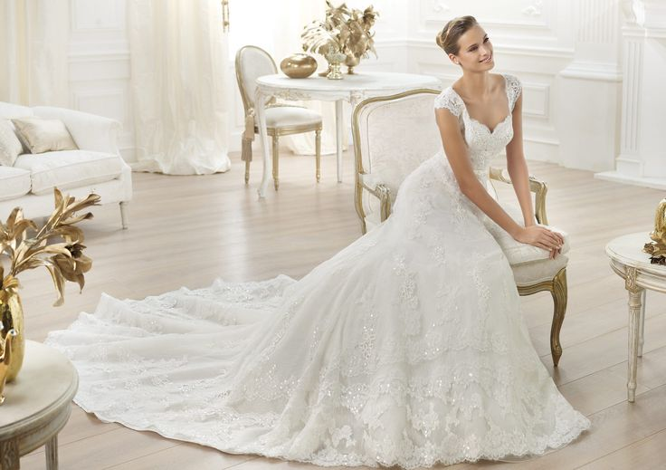 Pronovias presents the Lencie wedding dress. Costura 2014.   Pronovias Cat liked this one