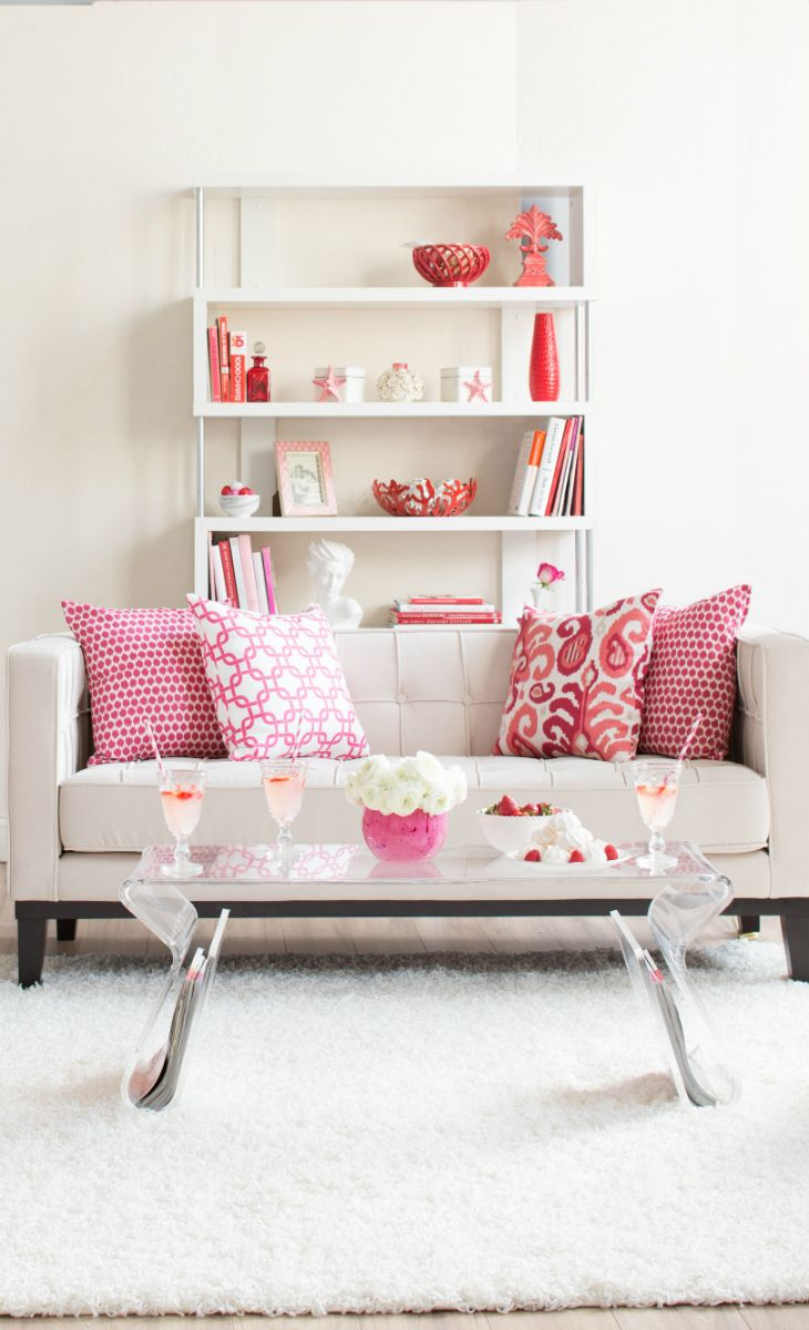 Joss & Main: Love the clean look with the pop of hot pinks for accent colors