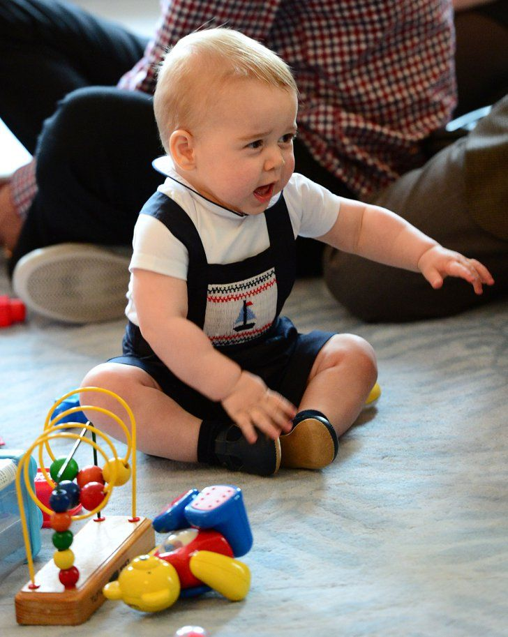 "Pin for Later: Here's How Prince George Feels About the New Royal Baby News ""One: I will not be expected to share my playthings."""