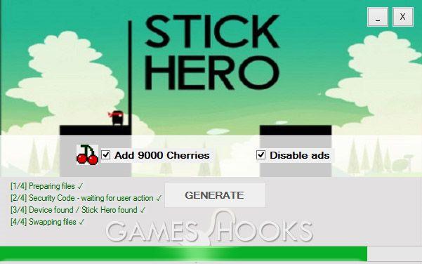 Stick Hero Hack (Cherries) | Games Hooks
