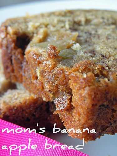 I doubled the banana added raisins and carmel bits did 1 1/2 of the spices in the flour mix!!!, ...it took two pans instead of one.....,Banana AppleBread