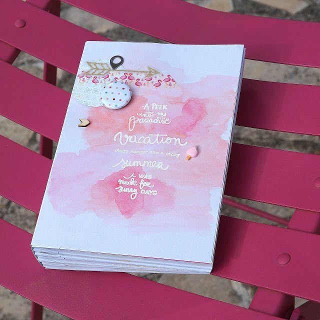 Le scrap d 'Opsite: Un mini album ananas et flamant rose : DT Mini'Mum