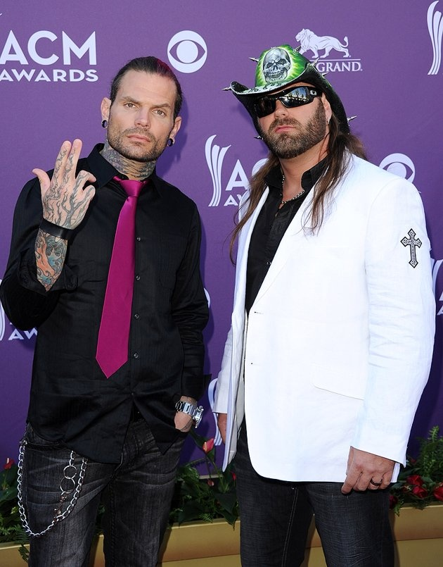 The evening's true heavyweights, pro wrestlers Jeff Hardy and James Storm, actually donned a jacket and tie between them for the event.