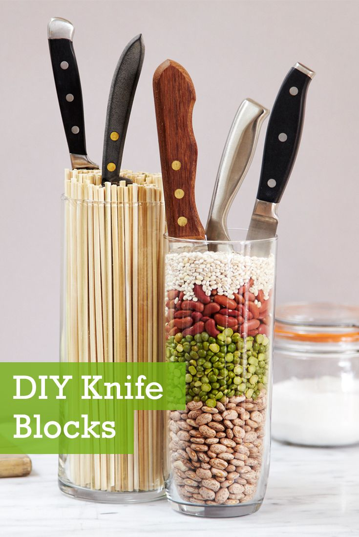 Make 3 DIY knife blocks that fit your design style!
