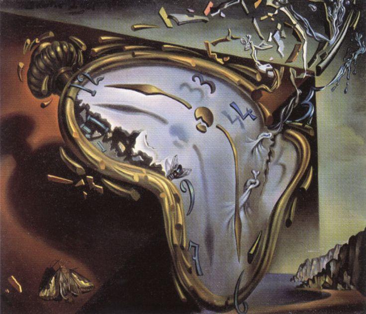 [하루일과]첫번째 폭발 순간의 흐물거리는 시계(살바도르 달리)/1954