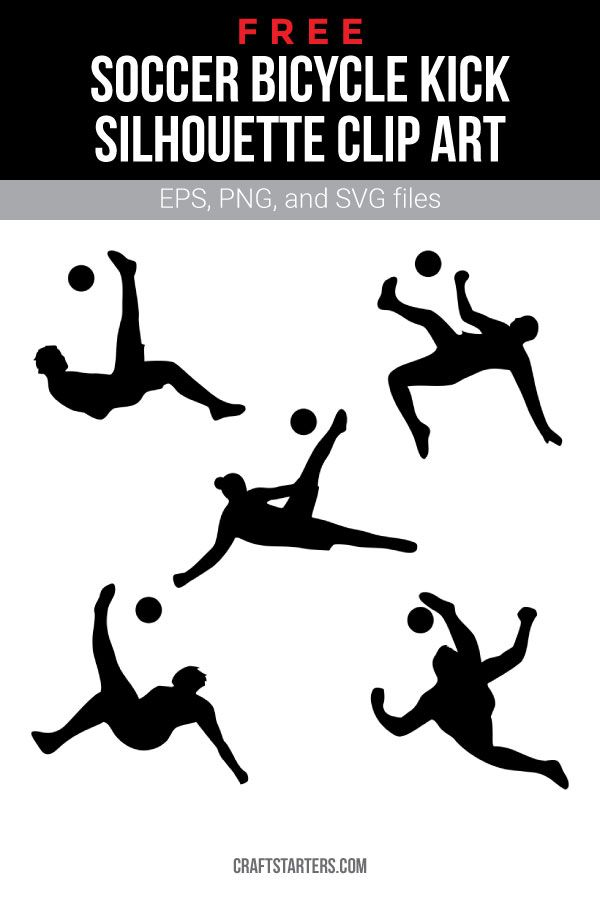 Free Soccer Bicycle Kick Silhouette Clip Art Bicycle Kick Clip Art Soccer Motivation