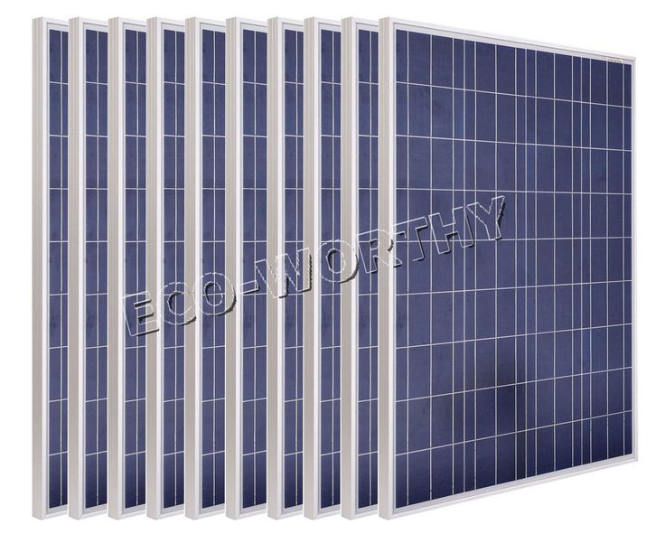 1kw 10 x 100w 18v poly solar panel for rv boat 12v battery charge