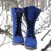 """Обувь ручной работы. Ярмарка Мастеров - ручная работа Валяные сапожки """"Синяя ночь"""". Handmade."""