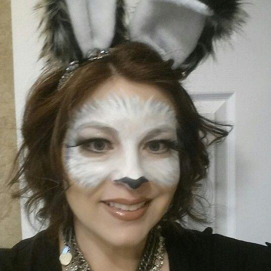 White Rabbit makeup for costume.