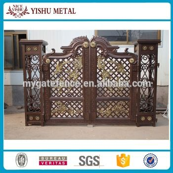 2016 high quality Decorative Latest main gate designs/Steel door entry aluminum security gate for house
