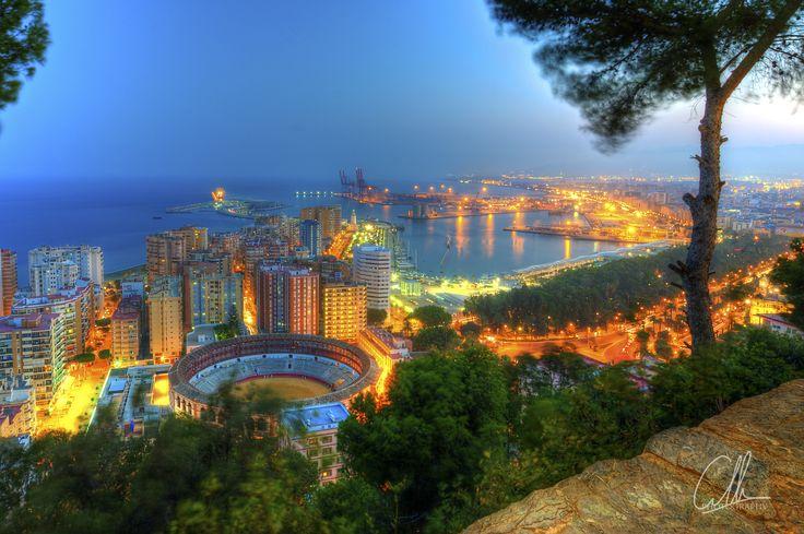 Málaga desde el Mirador de Gibralfaro, Málaga Spain